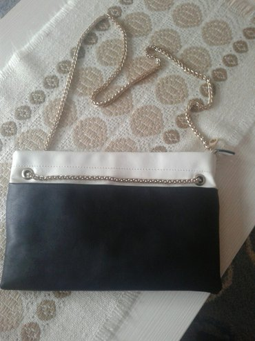 Nova torbica,nosena samo na maturu. Plavo belo i crno. 30 x 20cm. - Valjevo
