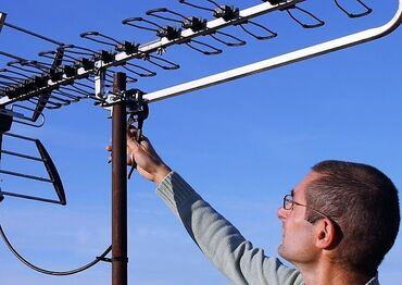 Телевизоры - Да - Бишкек: Установка телевизионных антенн. Профессиональна установка ТВ антенн дл