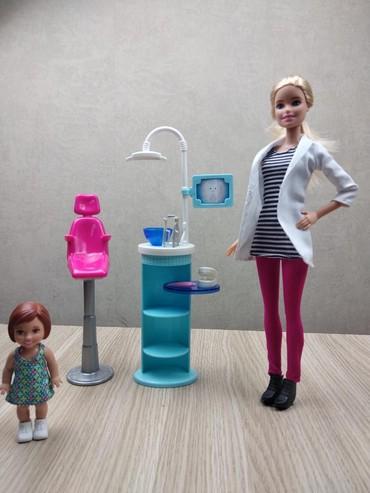 Набор: зубной кабинет + Барби. Всё в хорошем состоянии