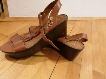 Kozni kaisevi - Srbija: Nove sandale, nisu nijednom nosene, kaisevi su kozni, visina platforme