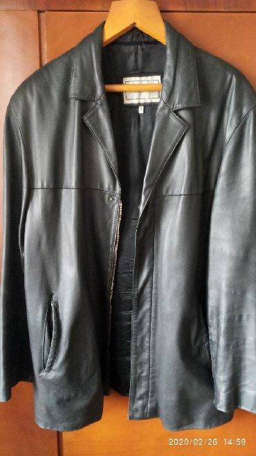 Куртка кожаная натуральная чёрная Италия 56 размер