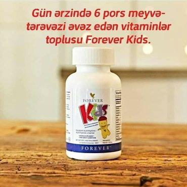 FOREVER KIDS(tebii usaq multivitamini)Mehsulun adi: Forever