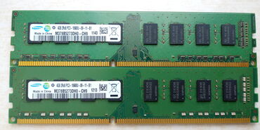 DDR3 8GB 4X2 (Samsung)PC3Mhz.4GBx2.Samsung.Test olunub.Протестировано