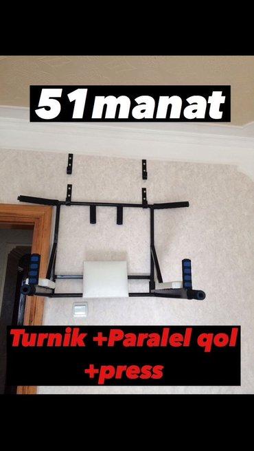 Bakı şəhərində Turnik+paralel qol+pres. 3chu 1inde. Ev seraitinde idmannan me