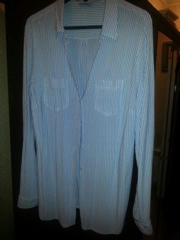 Блузка котоновая белая в синюю полоску. Цена 10 ман. в Bakı