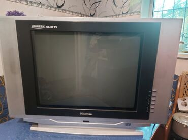 stekljannuju podstavku dlja tv в Кыргызстан: Телевизор большой в отличном состоянии Hisense, диагональ 54 см