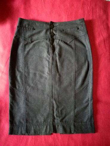 Uska suknja vel:36,prelep materijal I boja,siva sa srebrnim po malo - Belgrade