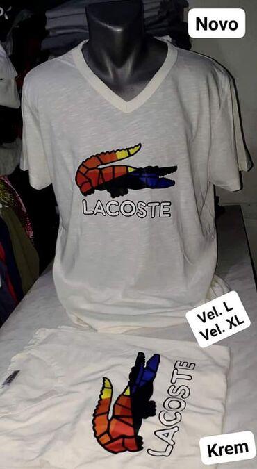 Lacoste - Srbija: Nova LACOSTE majica vel L. XL krem boje