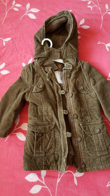 Jakna braon decija somot jakna sa vunom unutra novo - Pozarevac