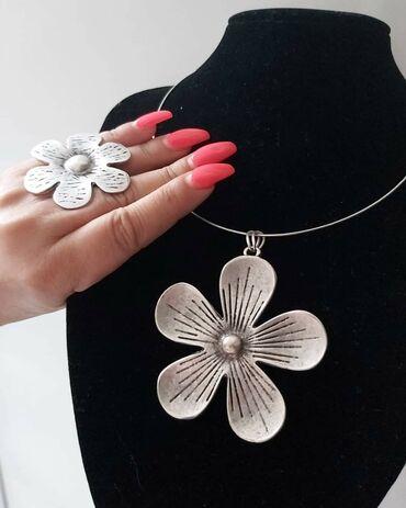 Zenske eleganti ogrlica rucne izrade od legure alpakeMaterijal nakita