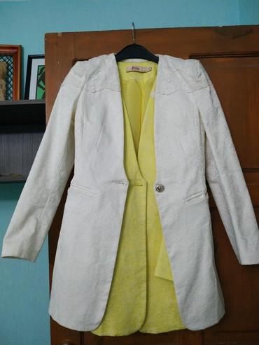 Пиджак удлинённый в отличном качестве (Гуанчжоу) в 2-х расцветках (бел