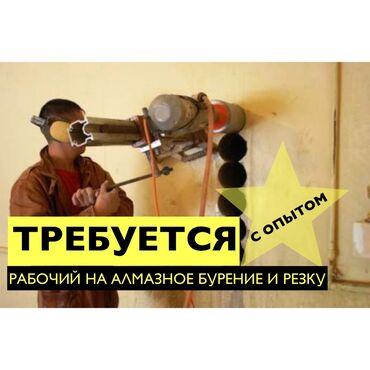 работа с ежедневной оплатой мороженное бишкек в Кыргызстан: Требуется рабочий на алмазное бурение и резку с опытом работы. Оплата