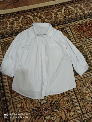 Белая рубашка, рукав 3/4. Размер стандартный от 42 до 48
