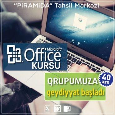 """Bakı şəhərində Noyabr ayının 2-I saat 12:00  başlayacaq """"Microsoft Office paketi"""