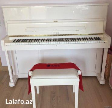 Bakı şəhərində Petrof Konsertino - piano yenidir, istifade olunmayıb. Ünvana