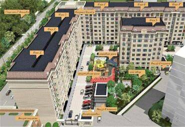 отопление в Кыргызстан: Продается квартира: 3 комнаты, 107 кв. м