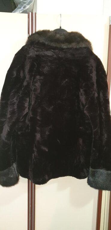 Braon bunda od veštačkog krzna br.42