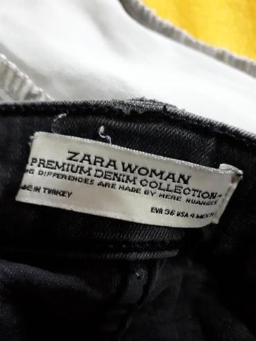 Pantalone-hm-visoki-struk - Srbija: ZARA,Potpuno nove, rastegljive, crno sive farmerke, visoki struk