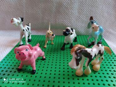 Barbie set - Crvenka: Set domaćih životinja,puna meka plastika,6 komada