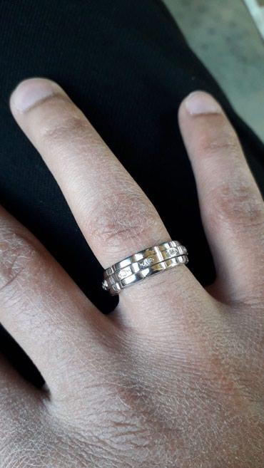 Gəncə şəhərində Gümüş üzük ortası fırlanır,yenidir(ağ qızıl suyuna batırılıb)