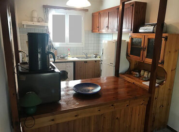 Rustic wooden kitchen units, approx 40 years old, for sale. All units