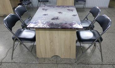 Продаются столы и стулья. Размер столов - 80х110, количество - 9 шт