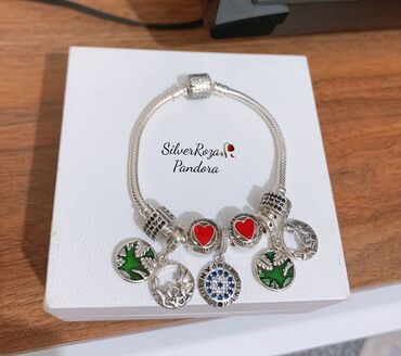 Новый Серебряный браслет и Шармы PANDORA Самый лучший подарок для