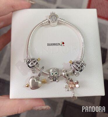 Серебряный браслет и новые Шармы Pandora  Самый лучший подарок для ваш