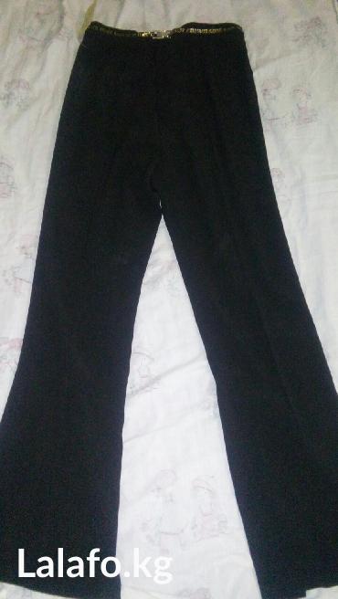 100с новые черные брюкис разрезом сзади с этикеткой размер 46 или хl в Лебединовка