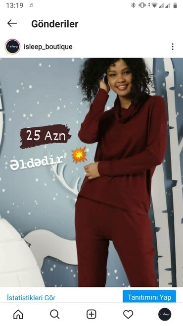 pijama - Azərbaycan: İsti Pijama. M ölçü. Yenidir və qablaşdırmadadır. Qiymət -25 AZN