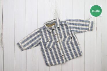 Топы и рубашки - Синий - Киев: Дитяча стильна сорочка у клітинку H&M, вік 6-9 міс., зріст 74 см