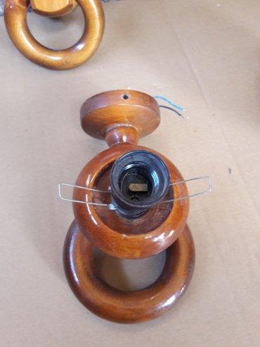 Деревянный светильник на стену 2 шт. цена 500 сом за один
