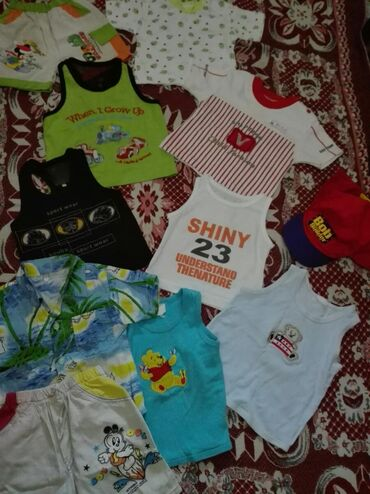 Детские вещи от 1 годика до 2-х лет. На первом фото -Маечки, шортики