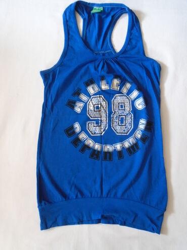 Atlet majice - Srbija: Zanimljiva sportska, atlet majica plave boje S veličine
