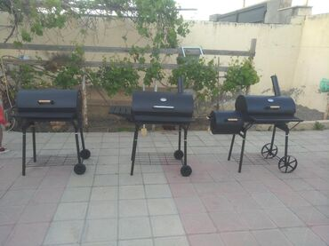 Barbekyu Azərbaycanda: Manqal (BARBEKÜ)-Soldan sağa 550, 700, 850