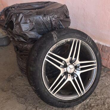диски на w211 в Кыргызстан: Диски АМG на мерседес w211 размер 18 состояние 8/10 + 3 рабочие летние