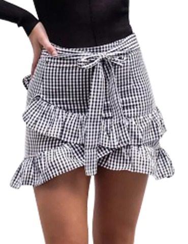 Zimska mini karirana suknja poluobim struka je - Srbija: Suknja novo vel S-Mpoluobim struka 37cmduzina suknje 42cmPogledajte