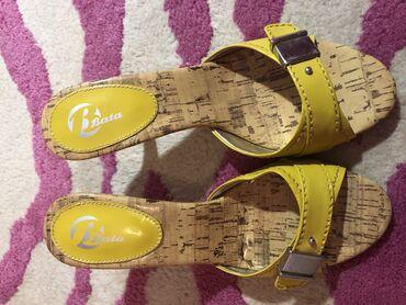 Ženska obuća | Kragujevac: Zute papuce na stiklu. kupljene u Bati . broj 38