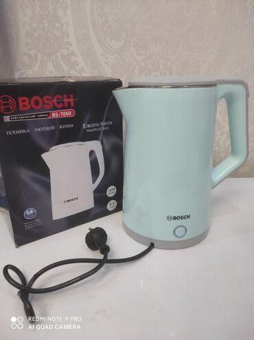 кофеварки bosch в Кыргызстан: ЭлектрочайникФирма BoschМощность 1800втМатериал нержавеющая