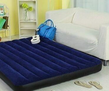 Мебель - Кыргызстан: Надувной матрас интекс 2х спальный ✓. Высота - 22 см ✓. Длина - 203 см