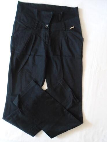 Poslovne pantalone - Srbija: Crne pamučne pantalone (97% pamuk) visokog struka, mogu biti i