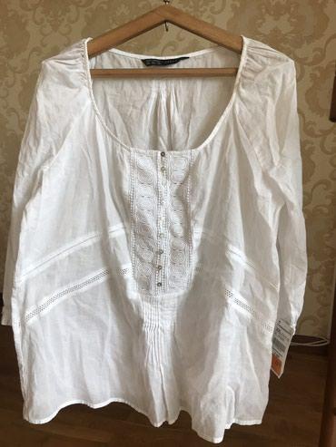 Zara Х/ б рубашка крестьянка белая XXL в Бишкек