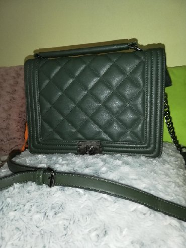 Kopija Chanel boy modela torbe, nova, maslinasto zelena boja