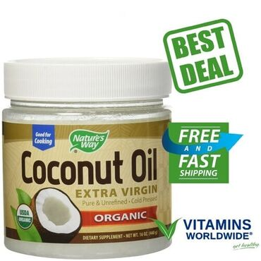 Nature's Way, Органическое кокосовое масло холодного отжима (Extra