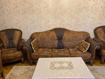Türkiyənin divan, kreslo, jurnalniy dəsti satılır. Xəzər mebel