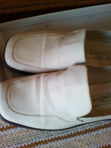 Zenske pantalone broj mis boja - Srbija: Cipele broj 37, zenske, bela boja sa crnim gumenim djonom, nosene