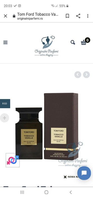 Parfem.tom.ford tabaco vanila 100ml,tester