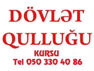 - Azərbaycan: Dovlet qulluguna hazirliq qrup ve ferdi sekilde dersler kecirilir Qanu