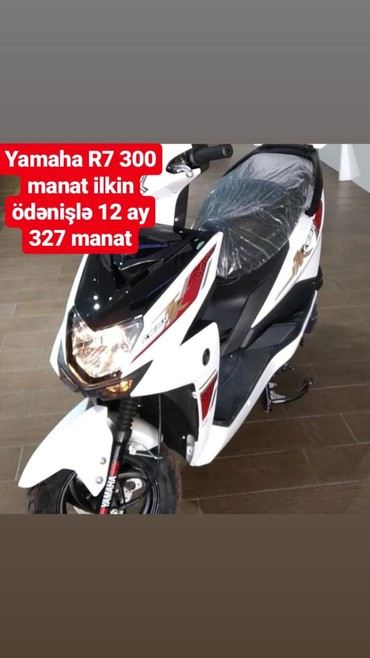 Nəqliyyat İsmayıllıda: Mopedlərin kreditlə satışı. Yamaha R7 300 manat ilkin ödənişlə 12 ay