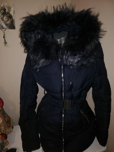 Novo Teget jakna famozna teget boja Krzno teget Strukirana uma svoj